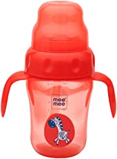 Mee Mee 210ml 2 in 1 Spout and Straw Sipper Cup (Red)