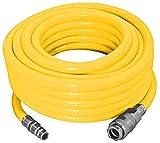Proteco-Werkzeug® PVC Druckluftschlauch 3 lagig Durchm. 13/19 mm 10 Meter lang verstärkt mit Gewebeinlage Kompressorschlauch Luftschlauch mit Schnellkupplung