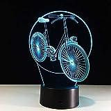 Usb Led 3d Fahrradlampe Stereo und Licht Acryl Geburtstagsgeschenk Power Bank Abajur Nachtlicht Tischlampe Led Nachtlicht