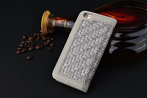 iPhone Case Cover IPhone 6s 6 cas, motif de tissage mixte couleur PU Leather Case Wallet Case Avec Cash Card Slot Case Stand pour Apple iPhone 6s 6 ( PATTERN : A , Size : IPhone 6s ) A