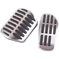 UIHhdas Car Foot Pedal Pad Cover AT MT Non-Slip stainless steel Accelerator clutch Brake Performance Pedal Set,For Opel Mokka ASTRA J H GTC Insignia Vauxhall Insigni