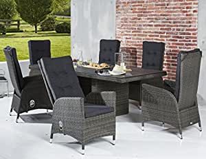 sitzgruppe alu gartenm bel gartenset essgruppe gartengarnitur saint tropez 6 1. Black Bedroom Furniture Sets. Home Design Ideas