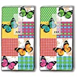Mouchoirs 20 (2 x 10)-butterflies &squares schmetterline en carrés/frühling/motivtaschentücher