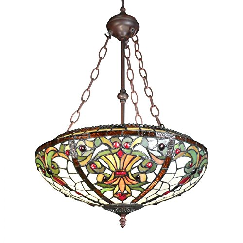 Htdeco - Luminaires - Chandelier Tiffany - series Indiana
