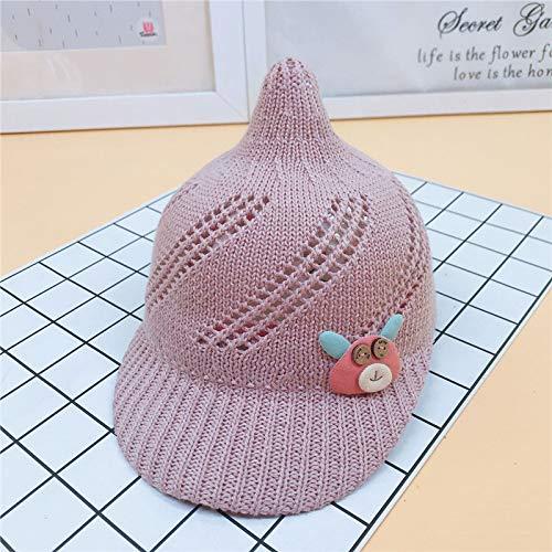 mlpnko Baby Mütze Schirmmütze 6 Monate - 2 Jahre Jungen und Mädchen Baby Wild Strickmütze lila pink - Spanisch Jazz Kostüm