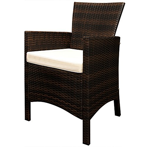 Deuba Poly Rattan Sitzgruppe 8+1 braun | 7cm dicke Sitzauflagen | Tischplatte aus Akazienholz | wetterbeständiges Polyrattan [ Modellauswahl 4+1/6+1/8+1 ] - Gartenmöbel Gartenset Sitzgarnitur Set - 2