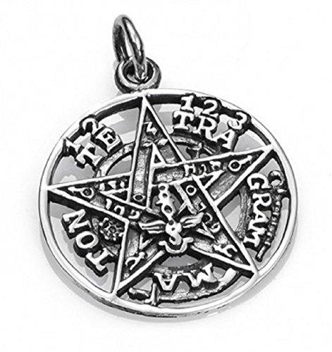 Colgante Tetragramaton plata. (diámetro 1.5cm)