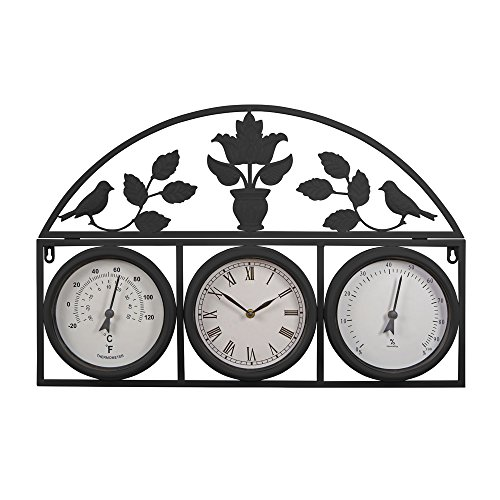 decorative-large-outdoor-weatherproof-garden-wall-and-fence-clock-and-weather-station-with-thermomet