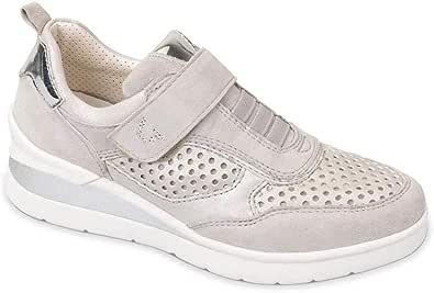 Valleverde Sneaker Donna Suede Perla