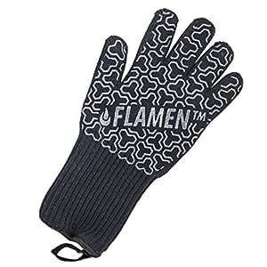 """Flamine BBQ Grilling Cooking guanti resistente al calore 500°C forno gloves-13""""lunga per extra protezione per avambraccio (singolo)"""