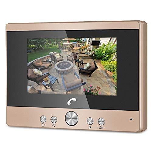 Türklingelsystem, Video Türsprechanlage, 4,3 Zoll klarer LCD Monitor, 32G Voice Intercom Türklingeln mit IR Nachtsicht PIR Bewegungserkennung Zwei Wege Intercom Sprechanlage(EU)