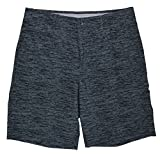 Greg Norman Tasso Elba Dash Print Stretch Fit Flat Front Shorts (38, Magnet)
