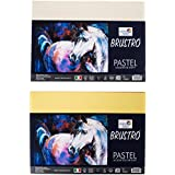 Brustro Artist's Pastel Papers 160 GSM A4 Bright & Soft Shades 40 Sheets (20 Sheets of Each Shades)