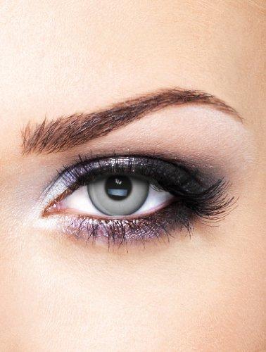 e Kontaktlinsen Crazy ohne Stärke für Halloween und Karneval (Silber Kontaktlinsen)