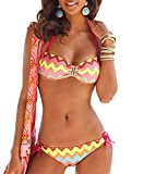 Bruno Banani Beach Bade-Bikini Zack bunt Größe C/D40