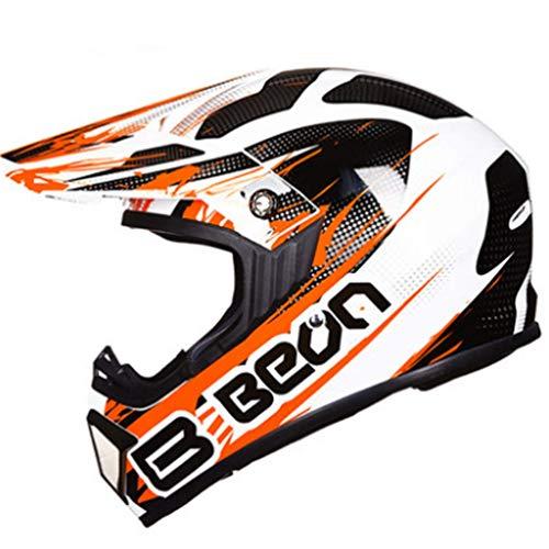 Casco Moto Unisex Adulto Moto Off-Road Full Face Rally Caschi Moto da Corsa Adolescenti All Seasons Motocross Cap Safety 55-61CM