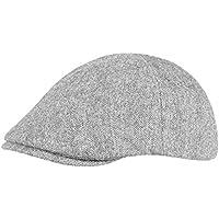 Maniglione cappello Gatsby Flat Cap in misto lana di alta qualità, grigio chiaro, Taglia unica