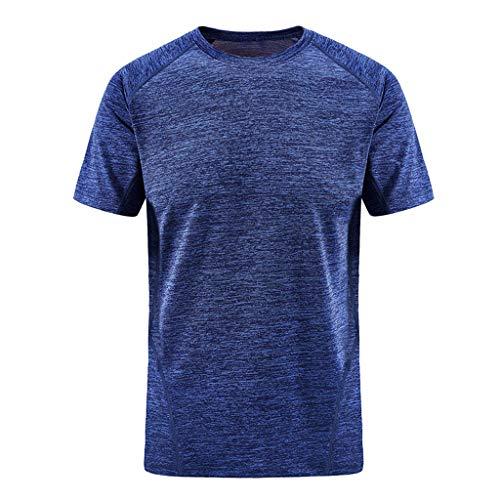 BURFLY Herren Outdoor Sports großes schnell trocknendes T-Shirt Herren Kurzarm atmungsaktives Kurzarm-Sweatshirt(L-6XL)