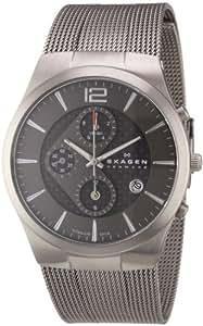 Skagen Designs Men's Chronograph Watch 906XLTTM with Grey Dial