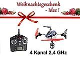 AMEWI RC Quadrix X Alien UFO Quadrocopter 4 Kanal 2,4 GHz inkl Fernbedienung, Akku, Ladegerät und Zubehör