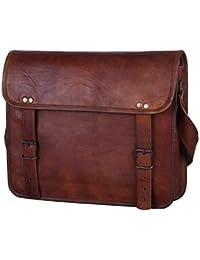 Anshika International Original Leather Messenger Bags / Briefcase For Men & Women - College / Office - Brown -...