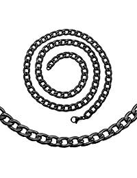 tumundo Collar o Pulsera Ø 5mm Hombre Mujer Cadena de Acero Plata Oro Negro Cadena Rey Eslabones Enlace Bizantino Cuello