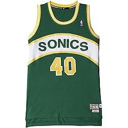 adidas Intl Retired Jersey - Camiseta para hombre, color verde/amarillo/blanco, talla S