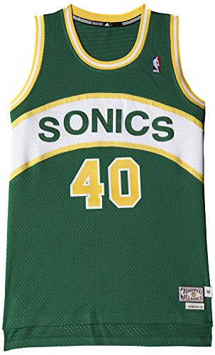 Adidas Maillot de Basketball Seattle sonics Retired Maillot S Nba Seattle Super Sonics