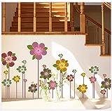 Wandsticker home Pflanze Blume Wandsticker 170 × 70cm