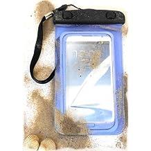 """PRESKIN - Wasserfeste Tasche bis 5.7 Zoll Display, Wasserdichte Smartphone Schutzhülle / Handy Hülle (Beachbag5.7""""Blue) mit Touchscreen Funktion wie Schutzfolie / Displayfolie, Waterproof / water resistant mobile bag / pouch / case für Samsung Galaxy S7, S6 edge, S5, S4, S3, Note 3, S4 mini, S3 mini, Motorola Moto G, Moto X, Sony, Nokia, Huawei, Apple iPhone 5S, 5C, 5, 4S, 4, HTC One, One mini, Apple iPhone 6 plus, für Strand, Konzert und Fahrradtour, mit IPX8 Zertifikat"""