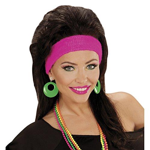 Creolen Modeschmuck Neon Ohrringe grün Mode Ohrstecker 80er Jahre Damen Schmuck Party Outfit Verkleidung 90er Ohrclips Ohrschmuck