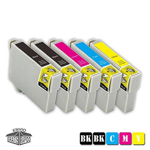 Multipack 5 X TintenPatronen Farben Kompatibel GC31 BK GEL - GC31 Y GEL Für Drucker RICOH Aficio GX e2600