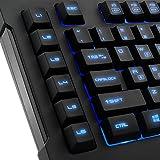 Sharkoon Skiller Pro beleuchtete Gaming Tastatur (9 Multimedia-, 6 Makro- und 3 Profil-Tasten, Software, USB) schwarz - 4