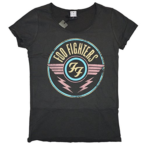 Amplified Girl Shirt Foo Fighters FF Air charcoal Grau
