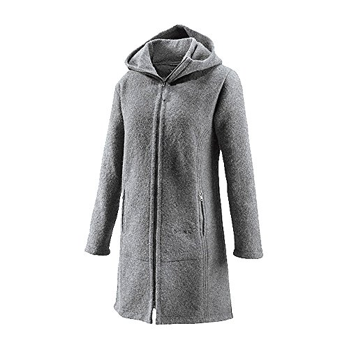 Mufflon Damen Walk Mantel Rika aus reiner Schurwolle (M, Fog)