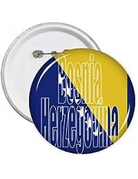 DIYthinker Regalo botón Bosnia Herzegovina Bandera Nombre pernos redondos Placa Ropa decoración 5pcs Multicolor XXL