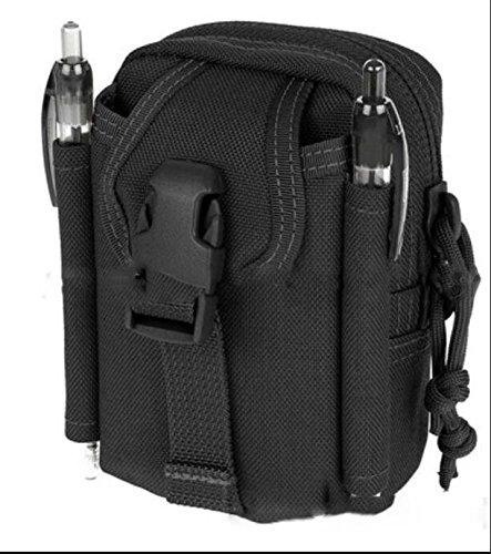 ZYT Camo outdoor Pocket Herren Multifunktions-Taschen drei taktischen Messenger portable Paket wasserfeste Mann Bag Umhängetasche Black