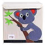 TsingLe Aufbewahrungsbox für Kinder, faltbar, Cartoon-Motiv, große Kapazität, Aufbewahrungsbehälter mit Deckel, für Kleidung, Schuhe, Spielzeug, 33 x 33 x 33 cm (36 l) Koala