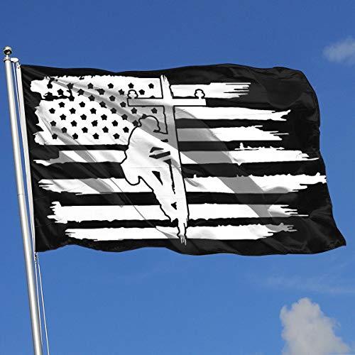 QphonesFlag Amerikanische Flagge Lineman Lineman Powerline Technikerflagge 3 x 5 Fahnen 90 x 150 cm One Size weiß -