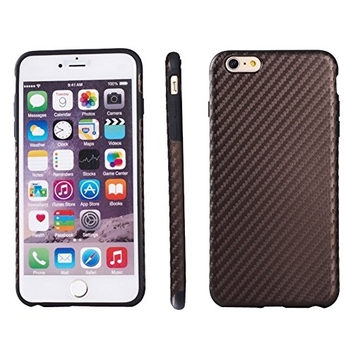Phone case & Hülle Für iPhone 6 Plus / 6S Plus, Carbon Fiber Texture TPU Fall ( Color : Pink ) Brown