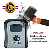 EAGLE LOCK Boite a clé Securise Exterieur avec Code |  N°1 pour AIRBNB | Boitier a clef mural avec code | Large Boite...