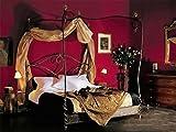 Rosso di Sera Bett, Metallbett, Himmelbett ROMANTIK handgeschmiedet 120 x 200