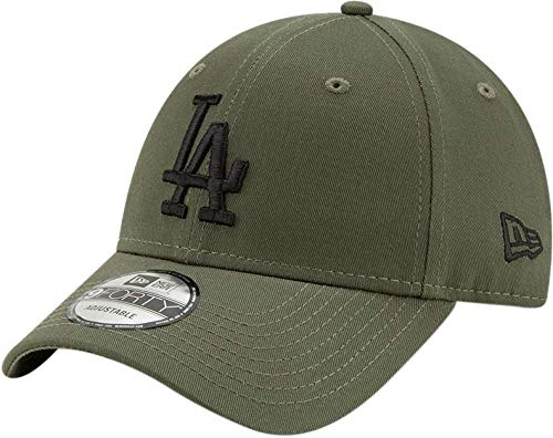 new style 5720a 33f2e New Era Los Angeles Dodgers 9forty Adjustable Cap League Essential  Olive Black - One-