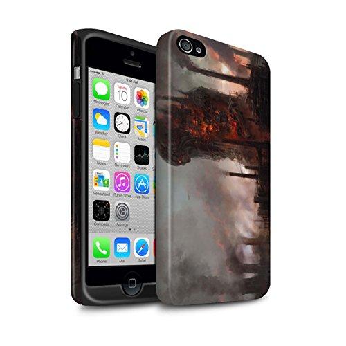 Offiziell Chris Cold Hülle / Matte Harten Stoßfest Case für Apple iPhone 4/4S / Schiffswrack Muster / Gefallene Erde Kollektion Industrie Maschine