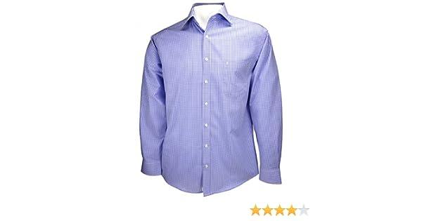 Herren Hemd Oberhemd Freizeithemd Ben Green Weiß Blau bügelfrei M 40 L 42