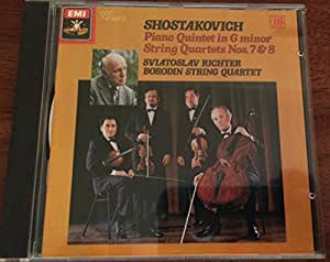 Shostakovich: Piano Quintet in G minor; String Quartets 7 & 8/Borodin string quartet, Sviatoslav Richter