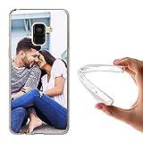 Funda Personalizada Samsung Galaxy A3 / 2016/2017 A5 / 2016/2017 A6 / Plus A7 A8 2018 Ace 2/3 / 4 Alpha con la Foto y el Texto Que Quieras (Samsung Galaxy A8 2018)