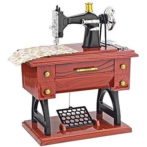 Music Box, YIFAN Mini macchina da cucire Vintage, a forma di strumenti musicali giocattolo,