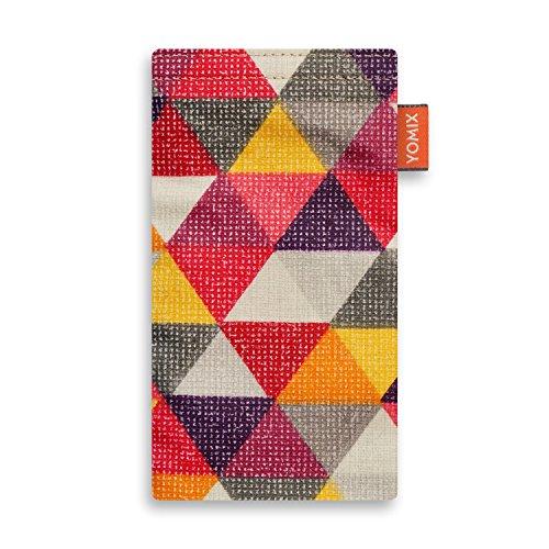 YOMIX Handytasche FINN für Apple iPhone 6 aus beschichteter Baumwolle mit genialer Display-Reinigungsfunktion durch Microfaserinnenfutter