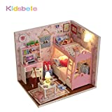 #2: Kidsbele DIY House Toys Kids Handmade Doll House Furniture Wooden Toys Light Pink Room Educational Toys Exercise Ability Toys For Girls